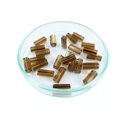 staafjes kralen 10mm bruin cilinder glas