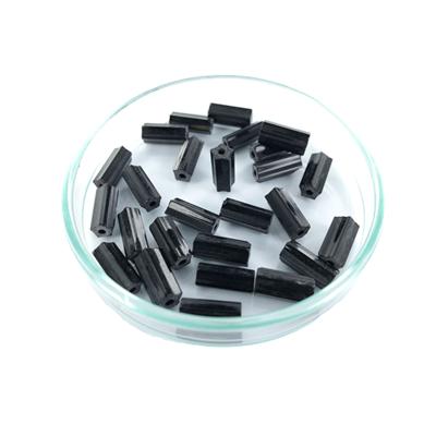 staafjes kralen 10mm zwart cilinder glas
