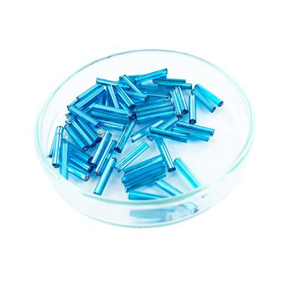 staafjes kralen 12mm blauw cilinder glas
