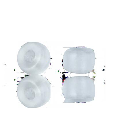 Glaskralen groot gat 9mm mat kristal doorzichtig cilinder