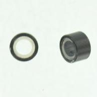 Knijpkraal voor haren 5mm zwart rond