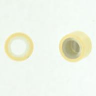 Knijpkraal voor haren 5mm wit rond