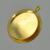 hanger kastjes 32mm goud rond