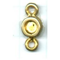 hanger kastjes 17mm goud rond