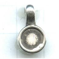 hanger kastjes 8mm oudzilver rond