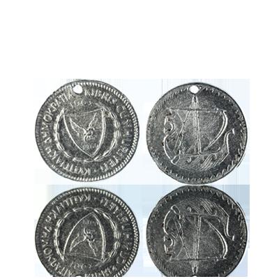munten 25mm oudzilver rond grieks
