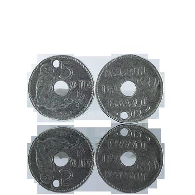 hanger munten 18mm oudzilver rond Grieks