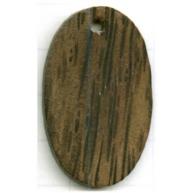 hangers 26mm bruin ovaal hout