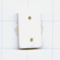 hangers 13mm naturel rechthoek schelp