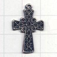 hangers 21mmm oudzilver kruis metaal