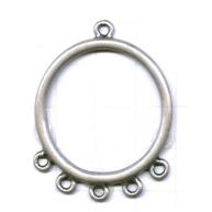 hangers 44mm zilver rij metaal