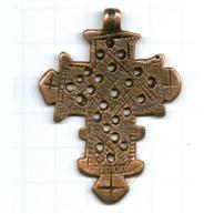 hangers 57mm brons kruis metaal