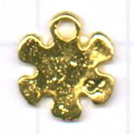 hangers 12mm goud bloem metaal