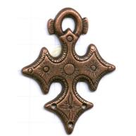 hangers 50mm brons kruis metaal