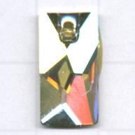 Swarovski 17mm grijs rechthoekig