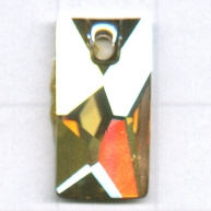 Swarovski 17mm bruin rechthoekig