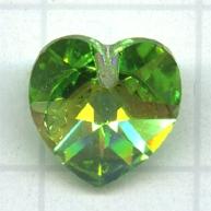 Swarovski 10mm groen hartje kristal kleurnummer 5000