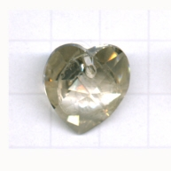 Swarovski 18mm grijs hartje kristal