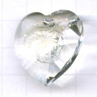 Swarovski 18mm doorzichtig hartje kristal