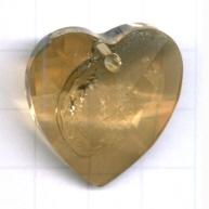 Swarovski 28mm bruin hartje kristal