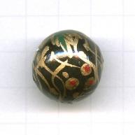 houten kralen 20mm zwart rond kleurnummer 6047