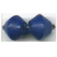 houten kralen 6mm blauw konisch
