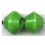 houten kralen 6mm groen konisch kleurnummer 6091