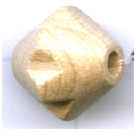 houten kralen 12mm bruin konisch