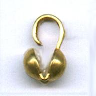 kalot 4mm goud rond
