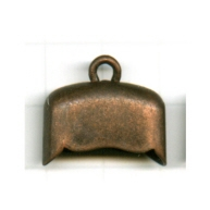 kapjes 20mm brons ovaal