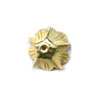 kapjes 15mm goud bloem