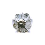 kapjes 15mm zilver bloem