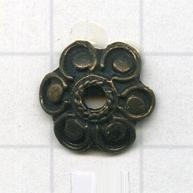 kapjes 12mm oudgoud bloem tin