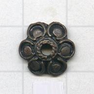 kapjes 12mm brons bloem tin