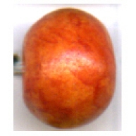 keramiek kralen 8mm oranje rond