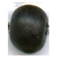 keramiek kralen 8mm zwart rond