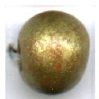 keramiek kralen 8mm goud rond