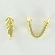 klemhanger 12mm goud vorm metaal