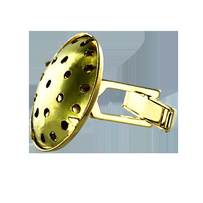 manchetknopen opnaai 22mm goud rond