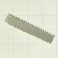koppelstuk 35mm zilver rechthoek