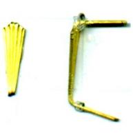 koppelstukken 12mm goud metaal