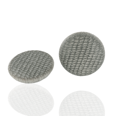 Kunststof bouton rond 23mm grijs