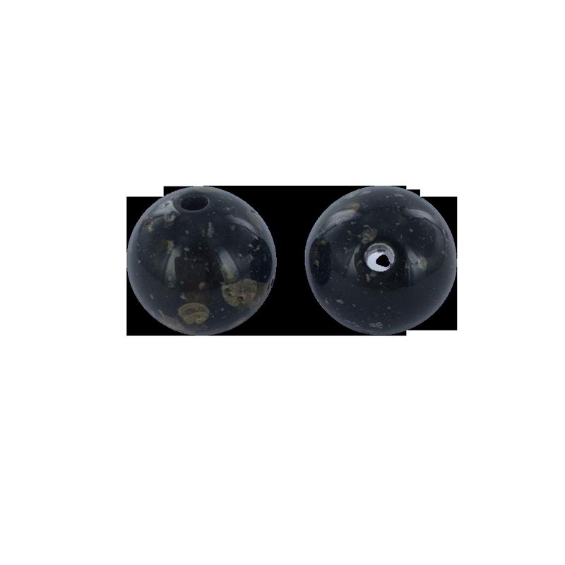 Kunststof kralen rond 21mm zwart bruin
