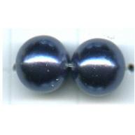 kunststof parels 8mm blauw rond