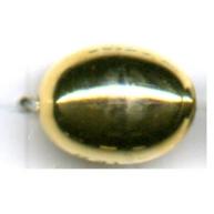 kunststofkralen 14mm goud ovaal