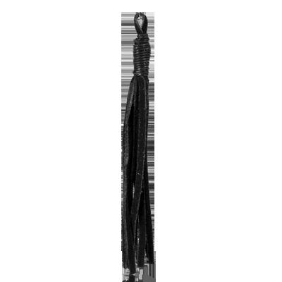 suede kwastje 14cm zwart