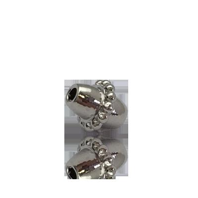 kralen 5mm zilver ovaal metaal