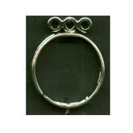 vingerringen 22mm zilver rond