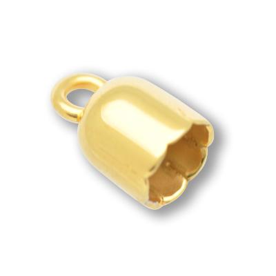 kapjes 6mm goud rond 5