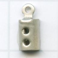 eindklemmen 2mm zilver rechthoek